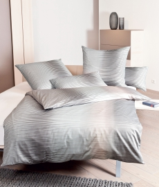 Janine Satin-Bettwäsche l Messina 43021 l 155x220cm l Perle Taupe