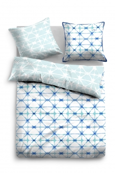 Tom Tailor Bettwäsche l Satin l 69765 l 135x200cm l Modernes Design l Blau Mint Weiß