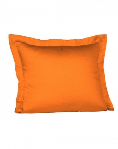 fleuresse Mako-Satin Kissen l Uni l 80x80 cm l 2044 | ORANGE