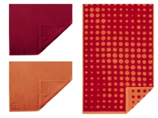 Egeria Handtuchset MADISON l 9-teilig l rot orange