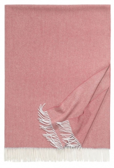 Eagle Products Uniplaid Boston l Wohndecke 100% Schurwolle l Blush
