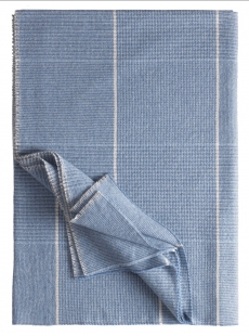 Eagle Products Goodwood Decke l Kaschmir-Woll Mix l Cashmere Plaid l Blau