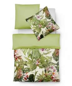 fleuresse Bed Art G-113815 Mako-Satin Bettwäsche l 135x200 l URBAN JUNGLE