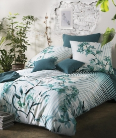 fleuresse Bed Art G-113934 Mako-Satin Bettwäsche l 135x200 l AZURE GREEN