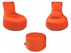 3er Set Outbag Sitzsack 2 Slope 1 Rock l Sitzgruppe l Orange