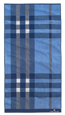Tom Tailor Frottier Handtuch 50x100cm ROYAL, blau kariert