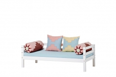 Hoppekids Sofabett Indian Girl Design mit 4-er Kissenset, Matratze, Rollrost