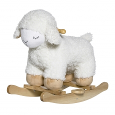 Bloomingville Rocking Sheep l Polyester l weiss