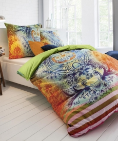 fleuresse Bed Art G-023354 Mako-Satin Bettwäsche l 135x200 l MULTICOLOUR