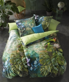 fleuresse Bed Art G-113931 Mako-Satin Bettwäsche l 135x200 l JUNGLE GREEN