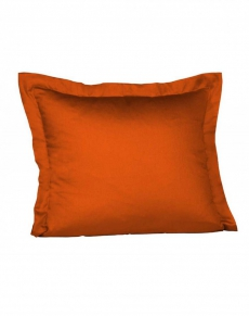 fleuresse Mako-Satin Kissen l Uni Orange l 80x80 cm l 4071 | CHILI