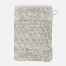 möve Bamboo Luxe l Waschhandschuh 15x20cm l 823 silver grey
